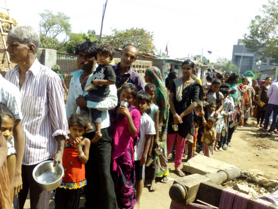 Milk and Biscuit Distribution, Chandola Lake - Ahmedabad